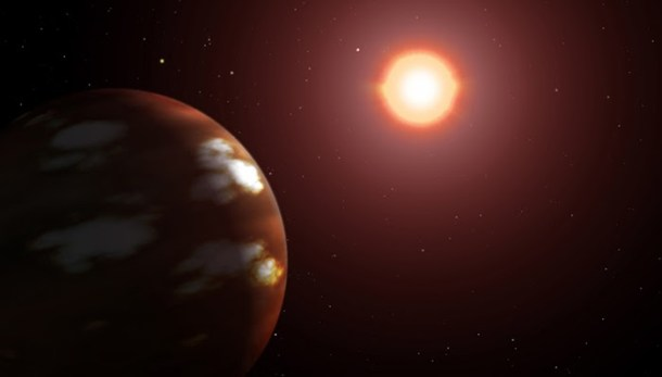 The strange Exoplanet Gliese 436 b. A planet of burning ice.