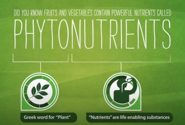 fruits and vegetables contain powerful nutrients called Phytonutrients.