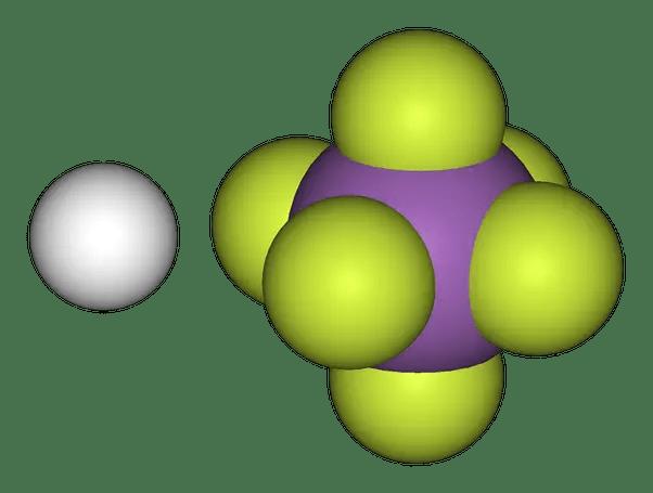Fluoroantimonic acid (H2FSbF6).