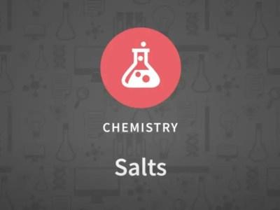 Salts. Chemistry.