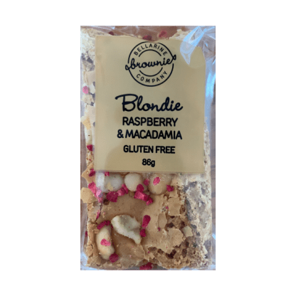 RASPBERRY & MACADAMIA BLONDIE