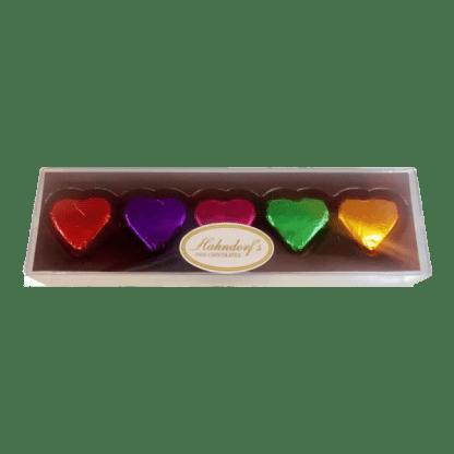 5 tray truffle chocolate hearts