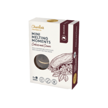 Cookies and Cream charlies fine food melting moments