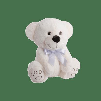 White teddy soft valentines gift