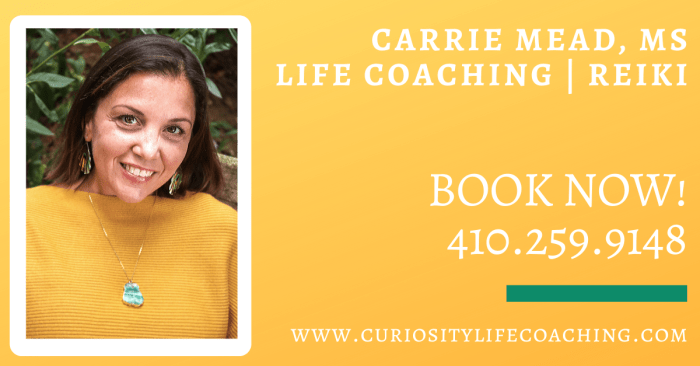 Carrie Mead, MS  Life coach, Reiki , Psychotherapist
