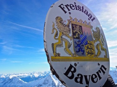 Freistaat Bayern at Austrian German border