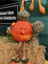 Pumpkin carving at the world's largest pumpkin festival in Germany