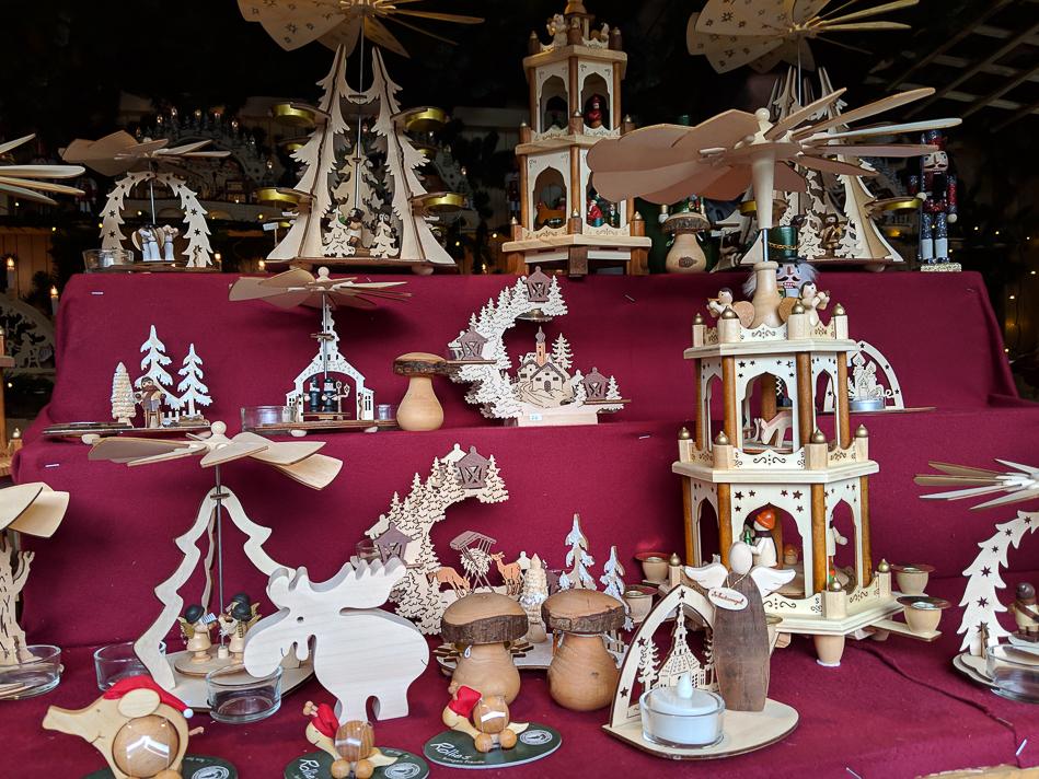 Munich Christmas market pyramids