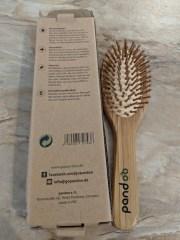 Sustainable toiletries bamboo hairbrush