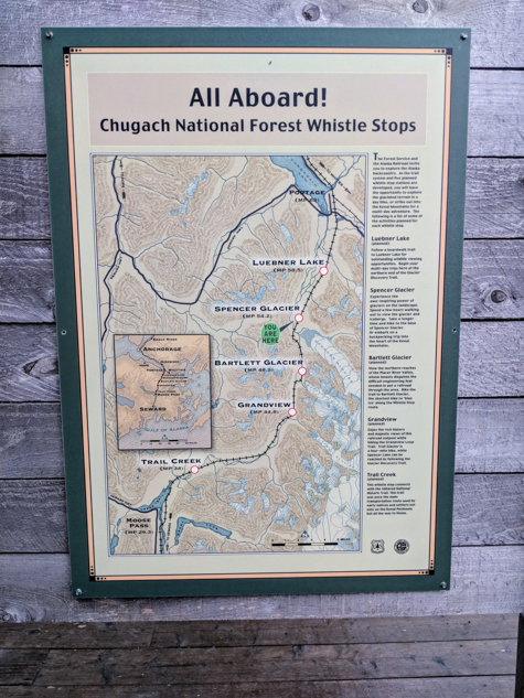 Spencer Glacier Whistle Stop Map
