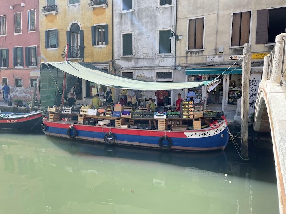 grocery boat in Venice