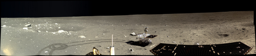 Panorama view of the moon's surface. Image Credit: Chang'e 3 /CNSA/The Planetary Society