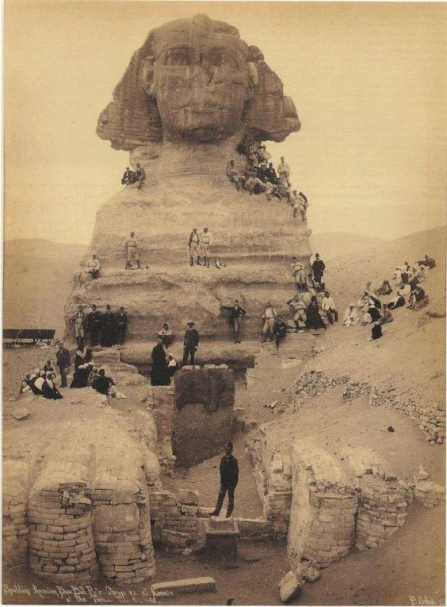 The Sphinx Giza Egypt circa 1850. Image Credit Unknown