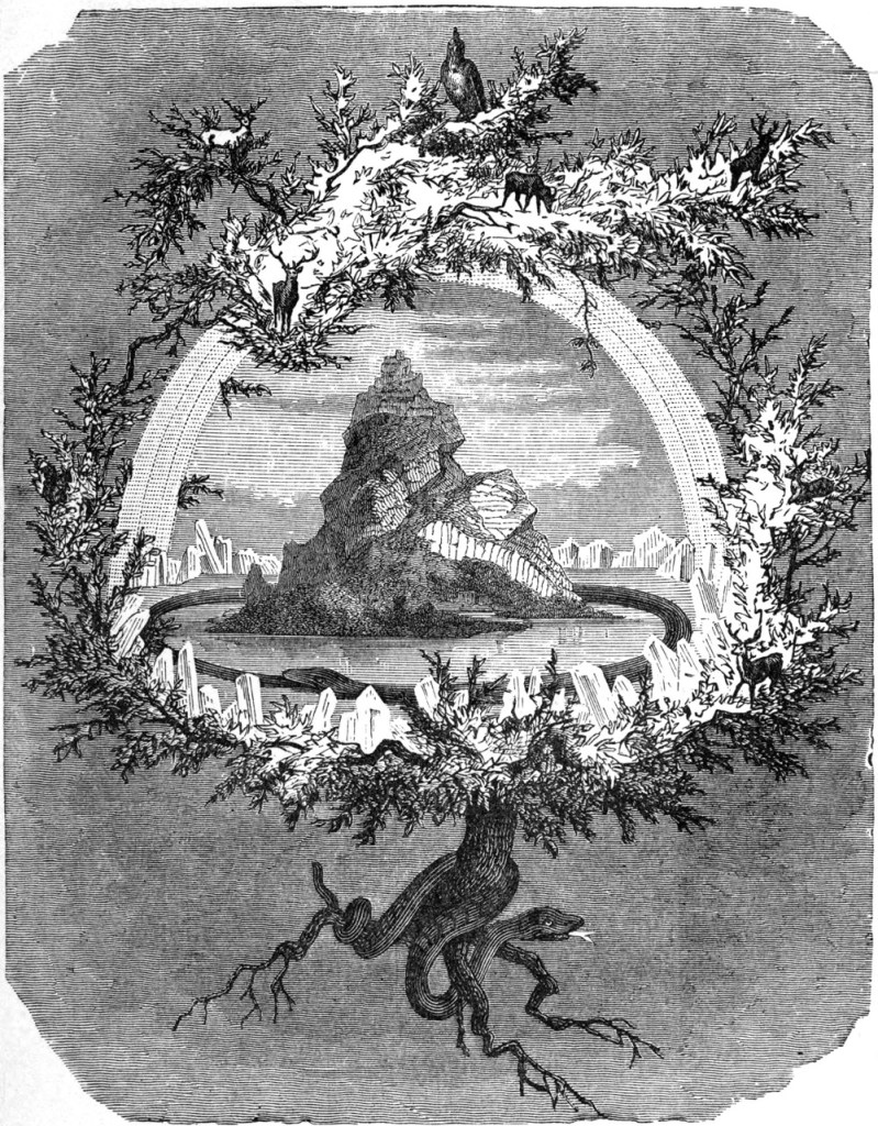 """The Ash Yggdrasil"" (1886) by Friedrich Wilhelm Heine. Image Credit: Wikimedia Commons."
