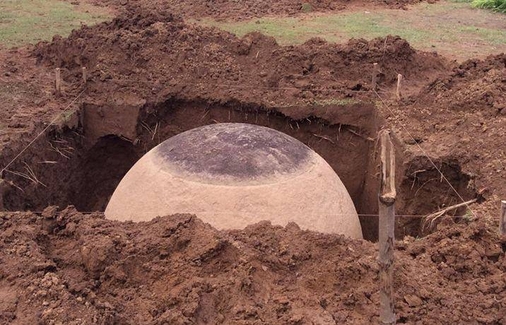 A stone sphere excavated by experts in Costa Rica. Image Credit.