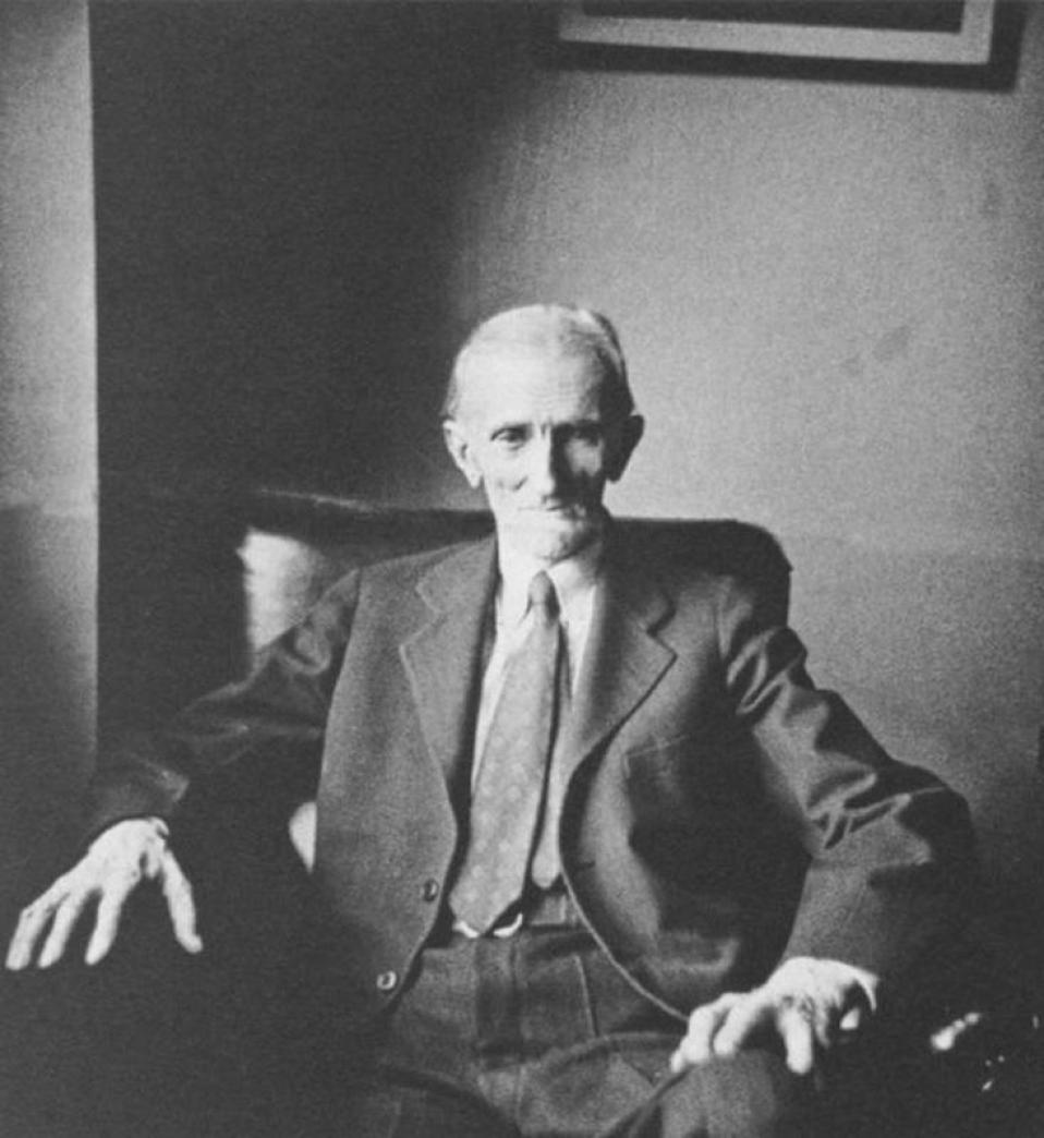 Nikola Tesla- the man who harnessed lightning sitting in his Hotel Room.