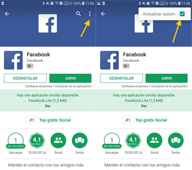 Cómo instalar la última versión de Facebook para Android