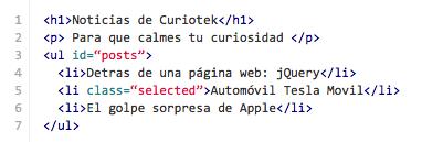 Figura 5. Código HTML