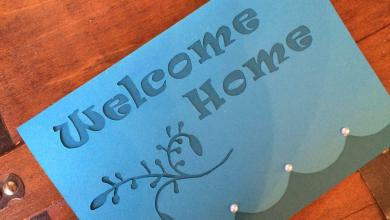 """Photo of Free Greeting Card Template """"Welcome Home"""""""
