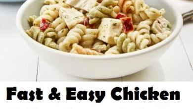 Photo of Super Easy 15 Minute Chicken Dijon Pasta Salad