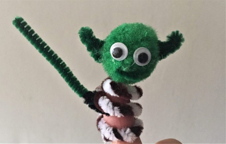 Star Wars Pipe Cleaner Finger puppets - Master Yoda finger puppet