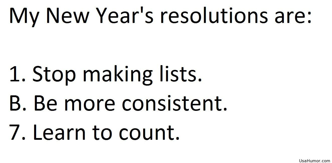 Sunday Sillies: New Year\'s Resolutions #humor – Curious as a Cathy