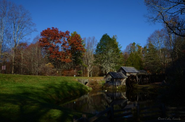 Mabry Mill in the fall