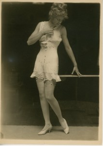 flapper girl in lingerie