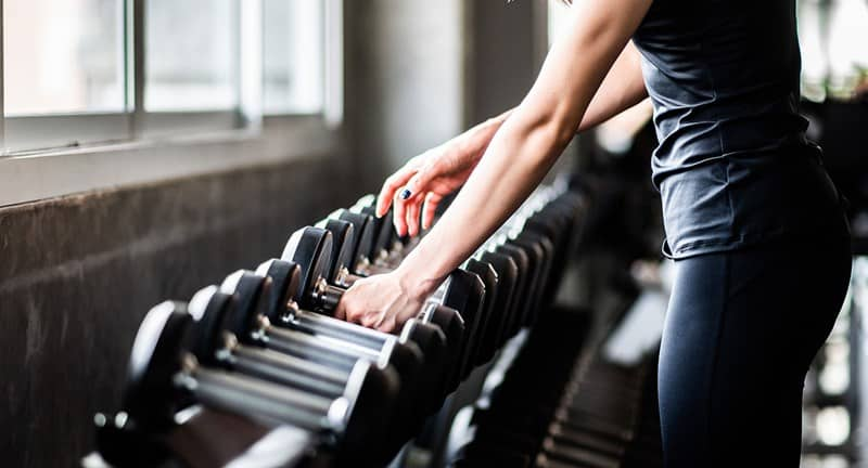 weight training definition dumbbell