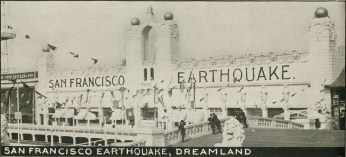 The San Francisco Earthquake,from guidebook in the Coney Island Museum collection, early 20th century.
