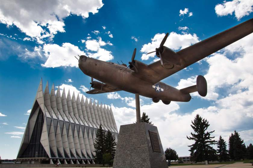 USAF Academy Honor Court and Chapel