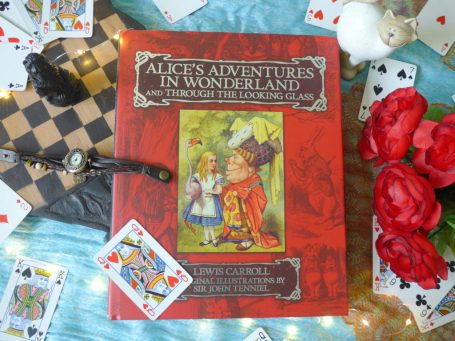 Photograph of the Alice and Wonderland book taken by Tizzy Brown