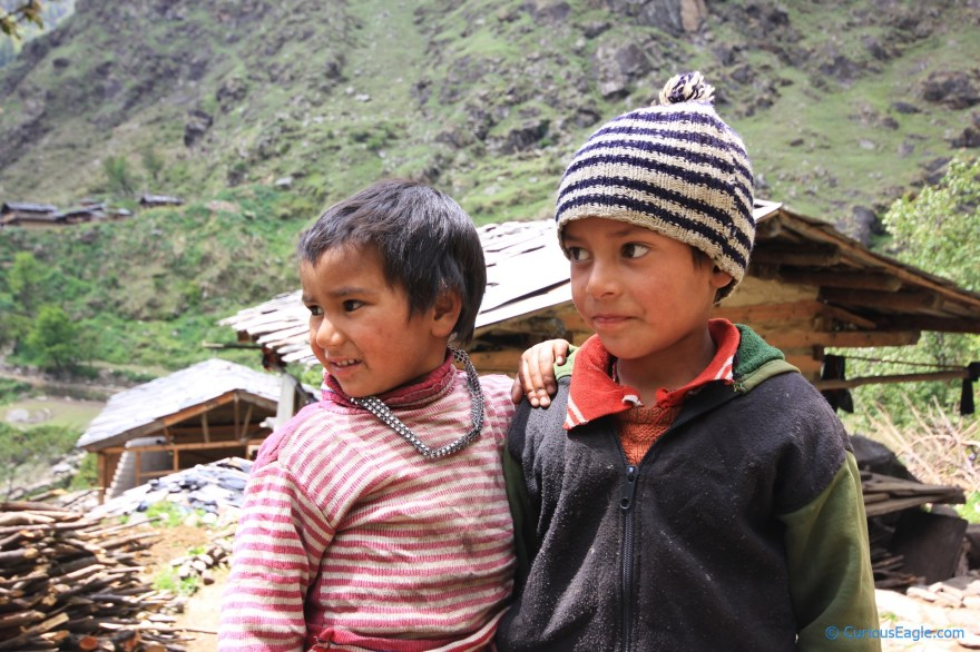 Kids from Gangaad village