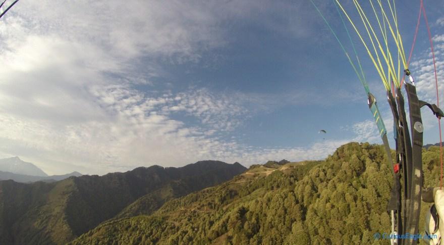 Paragliding at Bir-Billing in Himachal Pradesh, India