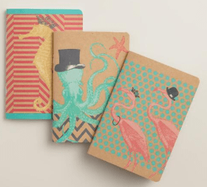 sea creature notebooks