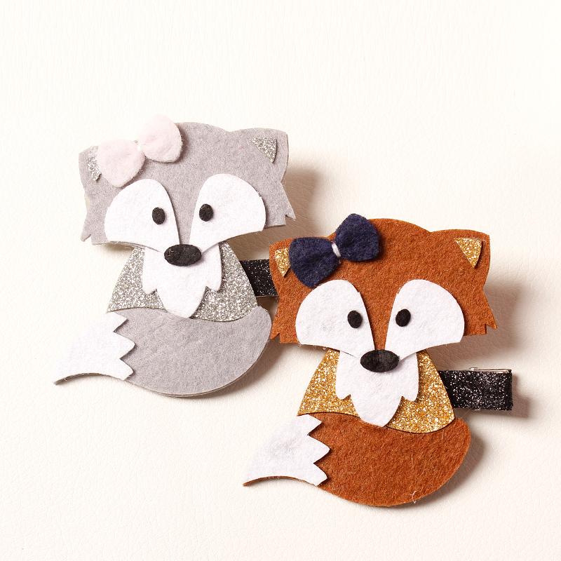 Adorable fox hair pins - #accessories #foxes #afflink