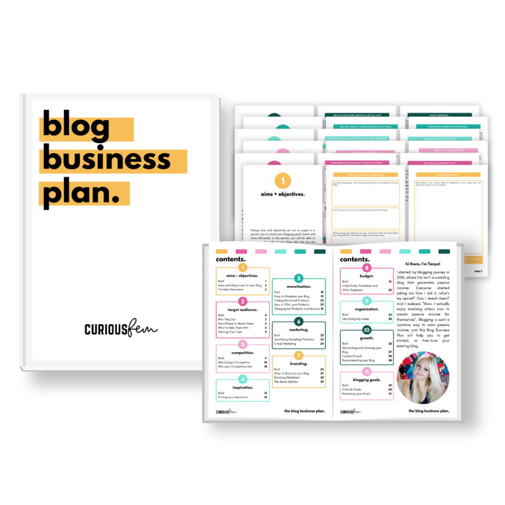 Blog business plan image 1