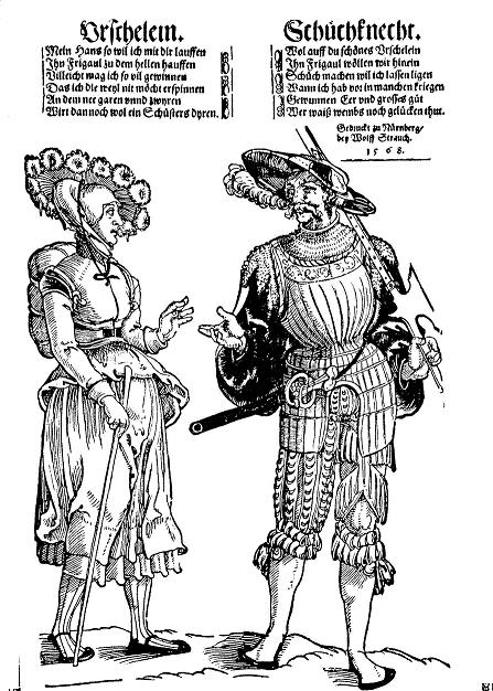 G.1213 LANQUENET AND WIFE C. 1535