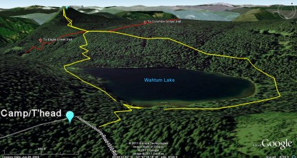 Wahtum Lake and Mt Chinidere trails