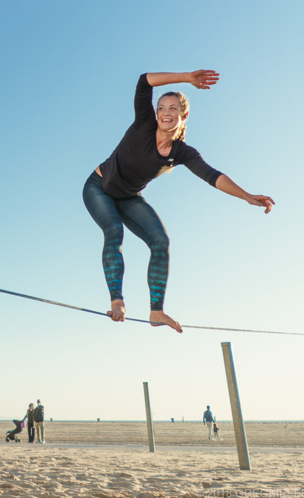 Rebecca Whitney - Queen of Slackline