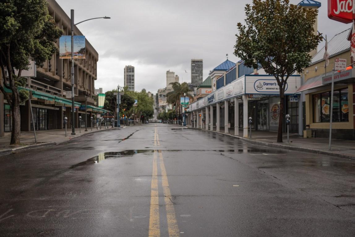 Empty San Fran Streets