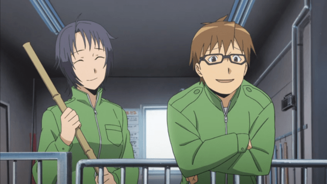 Hachiken and Mikage Aki in Silver Spoon