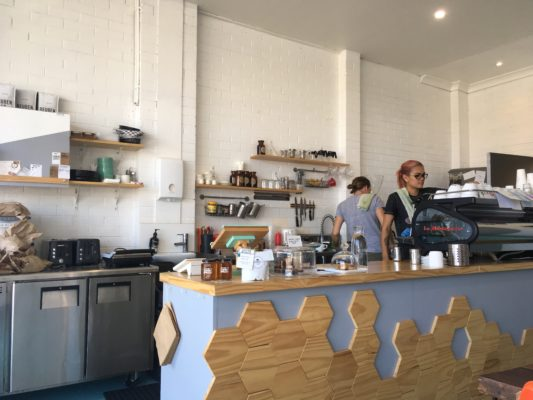 Image of espresso bar in Esther C. in blog best coffee in Newcastle, NSW