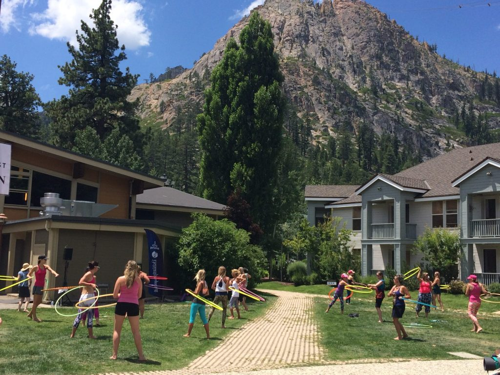 Image of hula hoopers at Squaw Valley Wanderlust