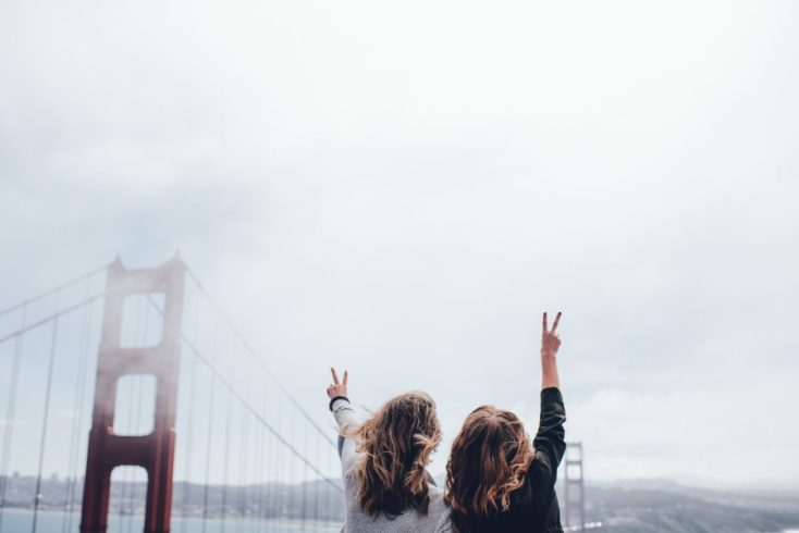 Golden Gate Bridge in South-Western USA road trip