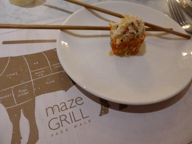 Maze Grill Park Walk restaurant review