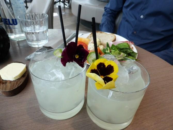 'Gypsy' elderflower and gin cocktails - £11.50 each.