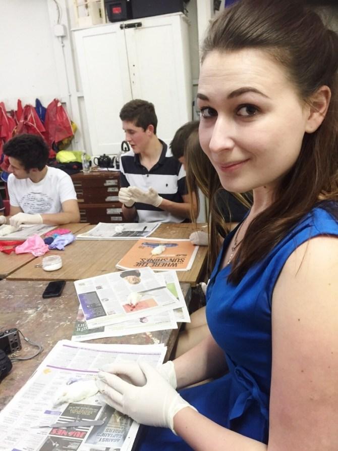 Taxidermy workshop Last Tuesday Society Tonja