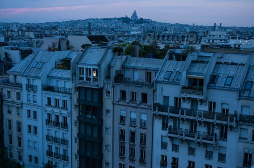 Centre Pompidou, looking north to Sacre Coeur