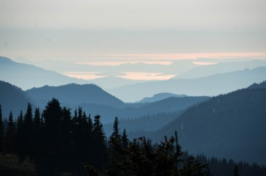 Peering out to the islands of Washington from our hike